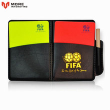 Free Shipping Football Referee Red Card Yellow Card Judge Case Soccer and Other Sports Professional Equipment Clear Bright Color