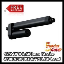 Top selling!Free Shipping 12V 600mm/ 24inch stroke 3500N /770LBS TV lift high speed electric linear actuator