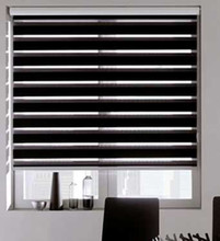 Free shipping quality double-layer roller zebra blinds made to order easy to install(China)