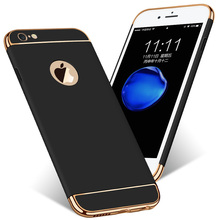For iPhone 6 Case Luxury Hybrid 3 in 1 Plating Anti-knock Matte Scrub Plastic Hard Case For iPhone 6S 6 Plus 6S Plus Case Coque