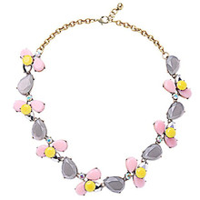 New Design Cute Vintage Water Drop Statement Necklace For Women Acrylic Imitation Gemstone Jewelry