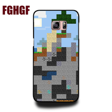 Unique Snap-on Hard Plastic Minecraft Pixel Cell Phone Case cover For Samsung galaxy A 3 5 7 note 3 4 5 s 3 s4 s5 s6 s7 s8 S8P(China)
