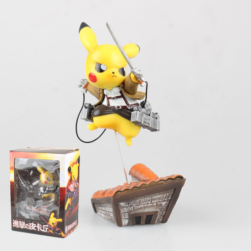 Attack on Pikachu Aciton Figures Puppets Character Model PVC Doll Pocket Monster Figures Kids Toys Boys Birthday Gifts<br><br>Aliexpress