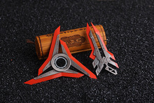 2016 NEW LOL Zed Shuriken Zinc Alloy Rotary dart  Weapons Model Kids Christmas Gift