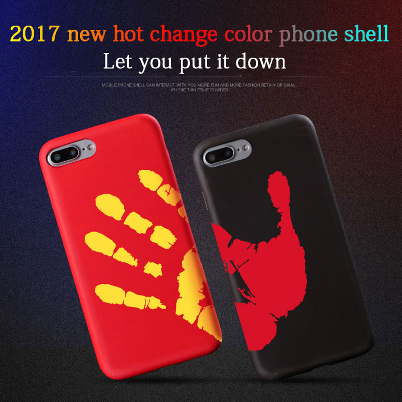 COOQII Hard PC For Iphone 6 Capa Funda Color Changing Thermal Heat induction Phone Case for iPhone 7 7plus 6 6s 6plus Case Cover(China (Mainland))