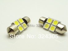 10pcs free shipping special offer  Car Interior 36mm Cold White 5050 SMD 4 LED Festoon Dome Map Light Bulb 12V reading light