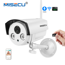 MISECU H.264+ Audio SD card Wifi 720P IP Cam 2.8mm Array LED IPC 1280*720P P2P email alert Night vision Outdoor Bracket CCTV
