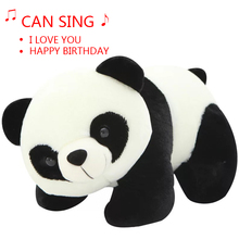 Free shipping A 20 cm cute stuffed animal toy children's gift for the panda presents a cute baby doll for a birthday song