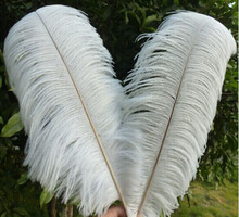 "Sell high quality 50pcs / lot white ostrich feather 16-18 ""/ 40-45cm, DIY jewelry accessories /Wedding decoration(China)"
