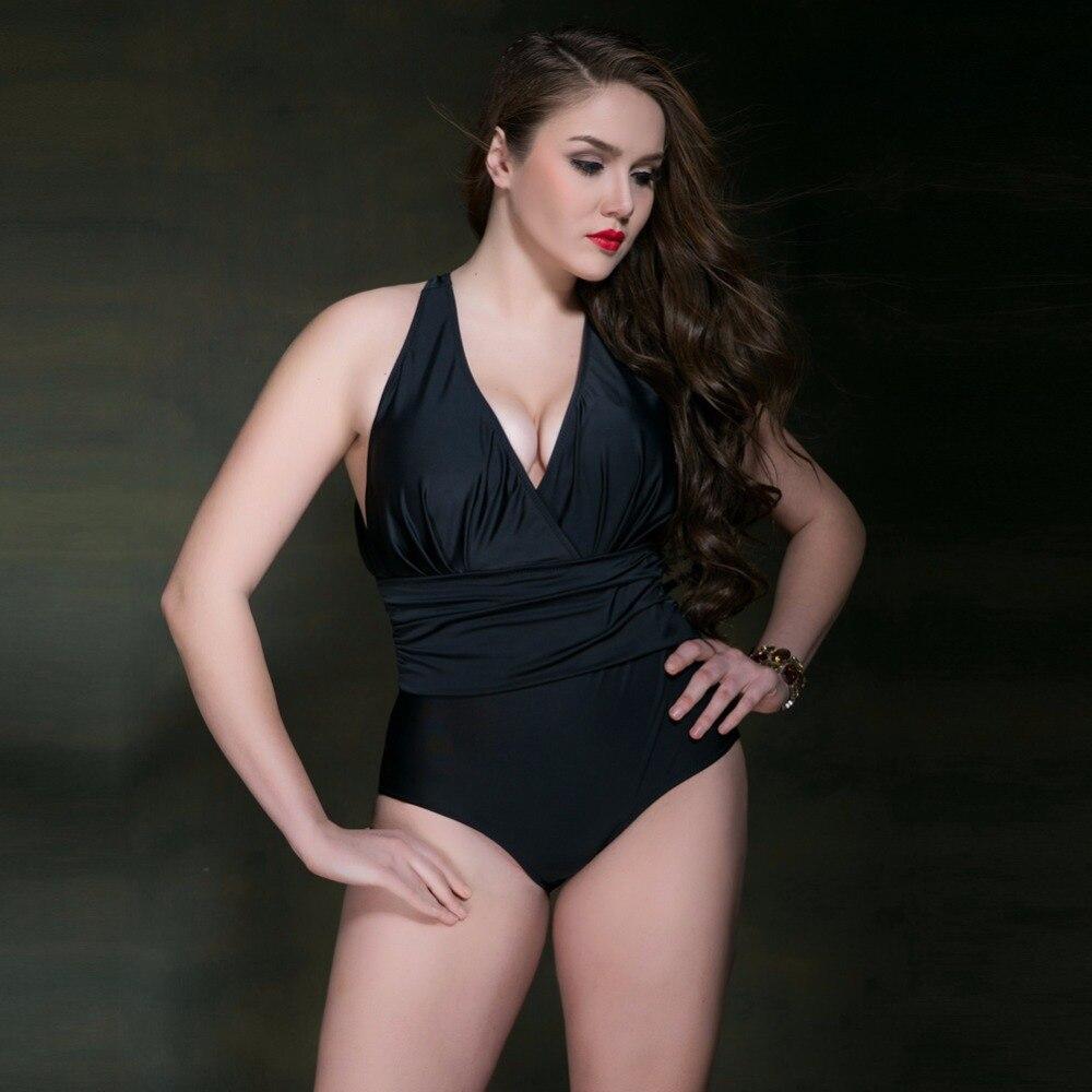 2017 Hot Sales One Piece Swimsuit Swimwear Women Plus Size Swimwear Solid Swimsuit Sexy Monokini Sexy Tankini Set Beachwear pink<br>