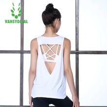 Yoga Tops women Sexy Gym Sports Vest Fitness Running woman Sleeveless shirt Quick Dry Fit Tank Top Yoga Wear clothing