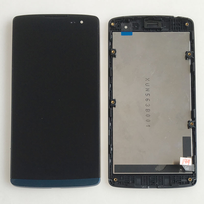 Blue For LG C50 Leon LTE H340N H340F LCD Display Touch Screen Digitizer Glass Assembly + Frame<br><br>Aliexpress