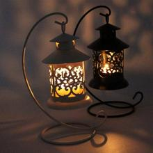 New 3 Styles Iron Moroccan Style Candlestick Candleholder Candle Stand Light Holder Lantern Home Decoration(China)