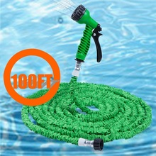 Hot Selling 100FT Magic Expandable Garden Hose Flexible 7 Modes Spray Watering Plastic Hose Pipe 100ft Stretch Garden Supplies(China)