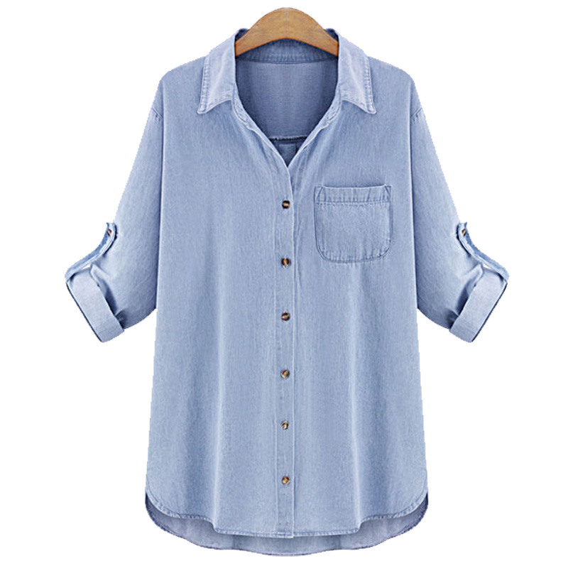 Compare Prices on Light Blue Shirts Womens- Online Shopping/Buy ...