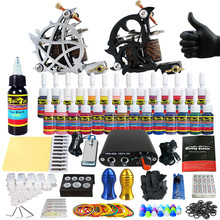 Solong Tattoo Complete Tattoo Kit for Beginner Starter 2 Pro Machine Guns 28 Inks Power Supply Needle Grips Tips TK204-13