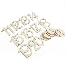 10pcs 11-20 Wooden Table Numbers Wooden Wedding Supplies Wedding Place Holder Table Number Figure Card Digital Seat Decoration