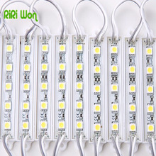 RiRi won LED Module 20PCS 5050 SMD 5LEDs  White/Warm White/Red/Green/Blue Waterproof Light Advertising lamp DC 12V Wholesale