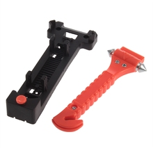 Mini Car Safety Hammer Life Saving Escape Emergency Hammer Seat Belt Cutter Window Glass Breaker Car Rescue Tool(China)
