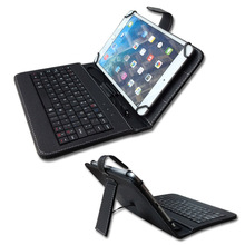 "Hight quality 7 inch Universal Leather Case Cover with Micro USB Keyboard For 7"" Tablet PC keyboard cover"