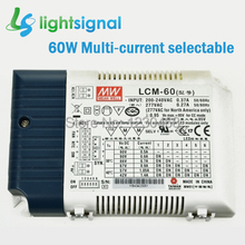 Meanwell dimmable LED driver with 60W Multiple constant current 500mA 600mA 700mA 900mA 1050mA 1400mA selectable by DIP S.W.