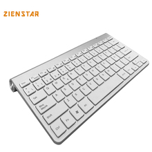 Spanish Language Ultra slim 2.4G Wireless teclado for Macbook/PC computer/Laptop /Android tablet/ Smart TV with USB receiver(China)
