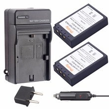 2Pcs PROBTY PS-BLS1 PS BLS1 Battery + Charger for Olympus E-410 E-420 E-450 E-600 E-620 & PEN E-P1 E-P2 E-P3 E-PL1 E-PL3 E-PM1(China)