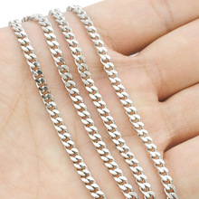 ATGO Free shipping, (40-70cm) to choose, 3mm wide,Chain Necklace, 316L Stainless Steel Necklace Men, wholesale accessories BN001