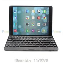 2015 new Bluetooth Aluminum Keyboard Case Cover For iPad air 2 / for iPad 6 / for iPad air 5