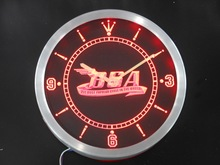 nc0180 BSA Motorcycles Cycle Neon Sign LED Wall Clock(China)