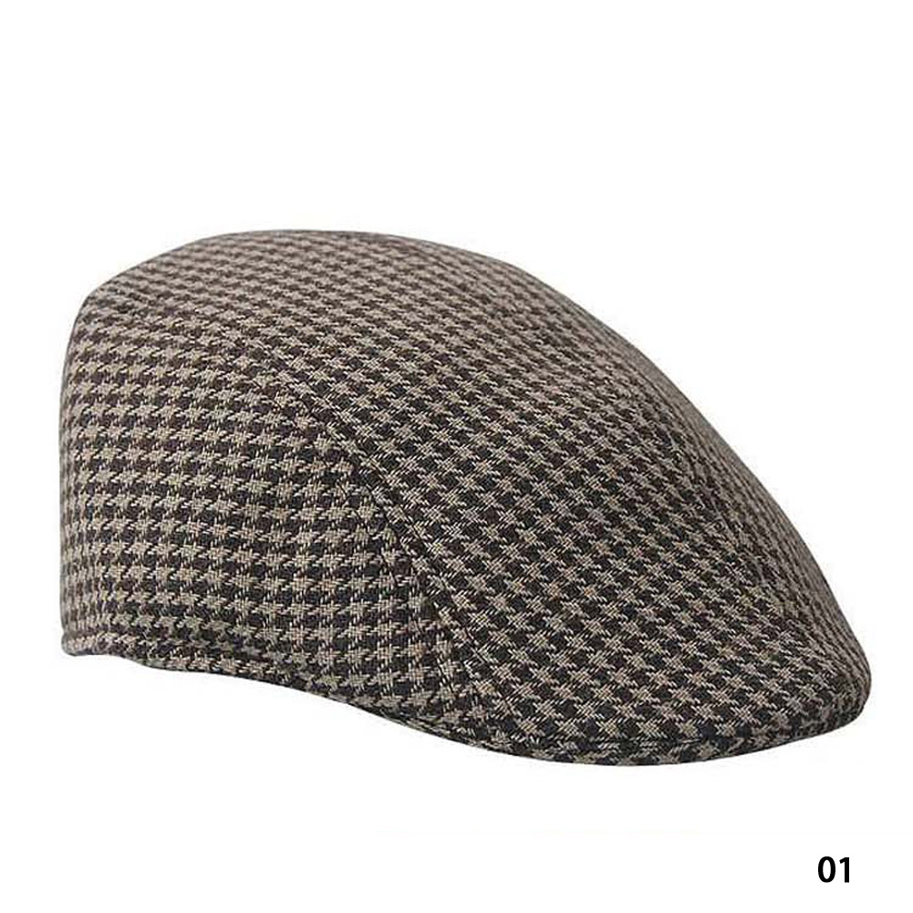 33f2aec7a7732 Compre Marca Quente Inverno Beret Mens Chapéu Baker Boy Peaked ...