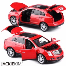 High Simulation Exquisite Diecasts Toy Vehicles Car Styling Cadillac SRX Off-Road 1:32 Alloy Diecast SUV Model Toy Car Kids Gift(China)