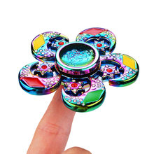 Buy New Colorful Fidget Toy Hand Spinner Rotation Time Long Autism ADHD Kids Adult Funny Anti Stress Rainbow Rhinestone for $6.89 in AliExpress store