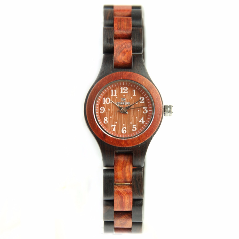 Fashion Womens Wood Watch Ladies Bracelet Watch Exquisite Female Quartz Wristwatches <br>