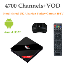 H96 Pro Plus (3G+32G) Amlogic S912+Europe IPTV Nordic Israel UK Albanian Turkey German IPTV 4700 Channels+VOD Android 7.1 TV Box(China)