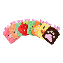 Water-filling Mini Hot Water Bag Cartoon Animals Plush Pocket Hand Wamer Hot Water Bottle 15x10cm(China)