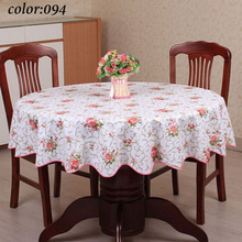 1 Pastoral style wave table cloth anti hot PVC plastic table cloth for Round table home hotel table cover decoration waterproof