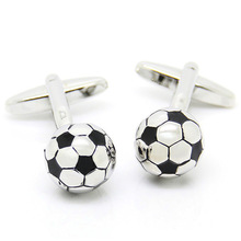 2017 New Funny Mens Football Cufflinks French Shirt Cufflink Box Sport Wedding Cuff Links 1825 Free Shipping1825