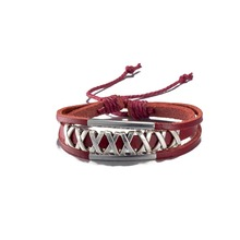 H186 alloy leather bracelet & bangles fashion jewelry hip-hop style Christmas gift Good quality and low wholesale price