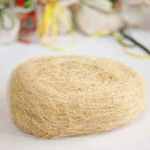 100g Free Shipping Wholesale Natural Uncolored Raffia Jute Gift/wedding Candy Packing Material Box Filler  Supplies