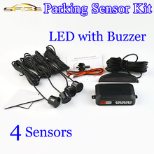 Car Parking Sensor Kit Buzzer / LED / LCD Display 4 Sensors 22mm Backlight Backup Radar Monitor System 12V 8 Colors