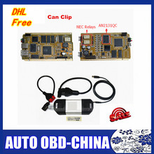5 pc DHL free shipping CYPRESS AN2131QC Chip NEC Relaies OBD2 Diagnostic Scanner Latest Version V168 for Renault Can clip(China)