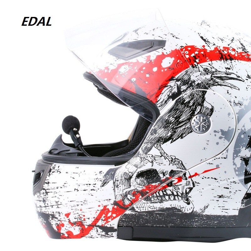 EDAL High Quality V1-2A Special Waterproof Windproof Automatic Answer Two-channel Motorcycle Helmet Music Bluetooth Headset