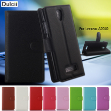 Buy DULCII Fashion Phone Case Lenovo 2010 Angus2 Litchi Wallet Stand PU Leather Bag Lenovo A2010 2010 Cash Card Holder for $3.14 in AliExpress store