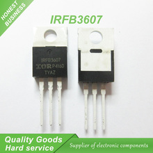 20PCS free shipping IRFB3607 IRFB3607PBF field effect transistor MOSFET N channel 75V 80A TO-220 100% new original
