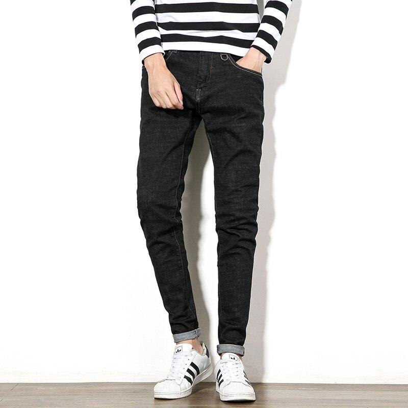 2017 spring new men jeans large size 30-48 male street fashion casual elastic denim pant black mens slim fit jeans trousers M985Одежда и ак�е��уары<br><br><br>Aliexpress