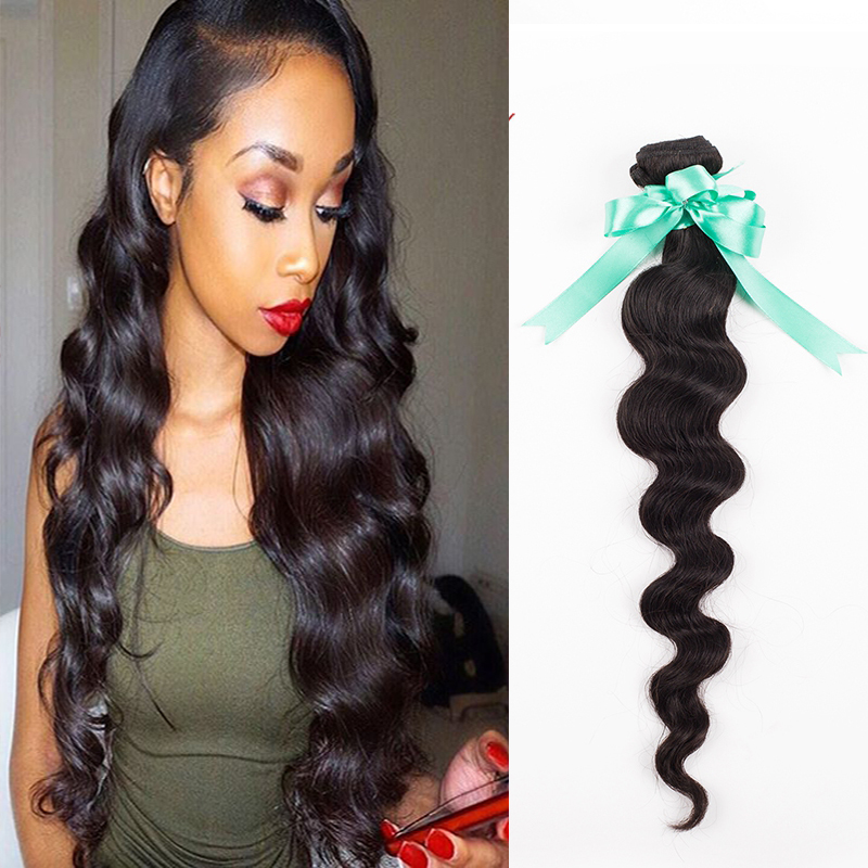 Malaysian Loose Wave Virgin Hair 1 Bundle 7A Loose Wave Hair Unprocessed Malaysian Loose Wave Hair Natural 100% Human Hair Wavy<br><br>Aliexpress