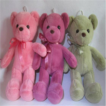 45cm Pink Green Baby Children Plush Toy Teddy Bear with Ribbon Doll Soft Baby Toys For Kids Gift Wedding Birthday W8
