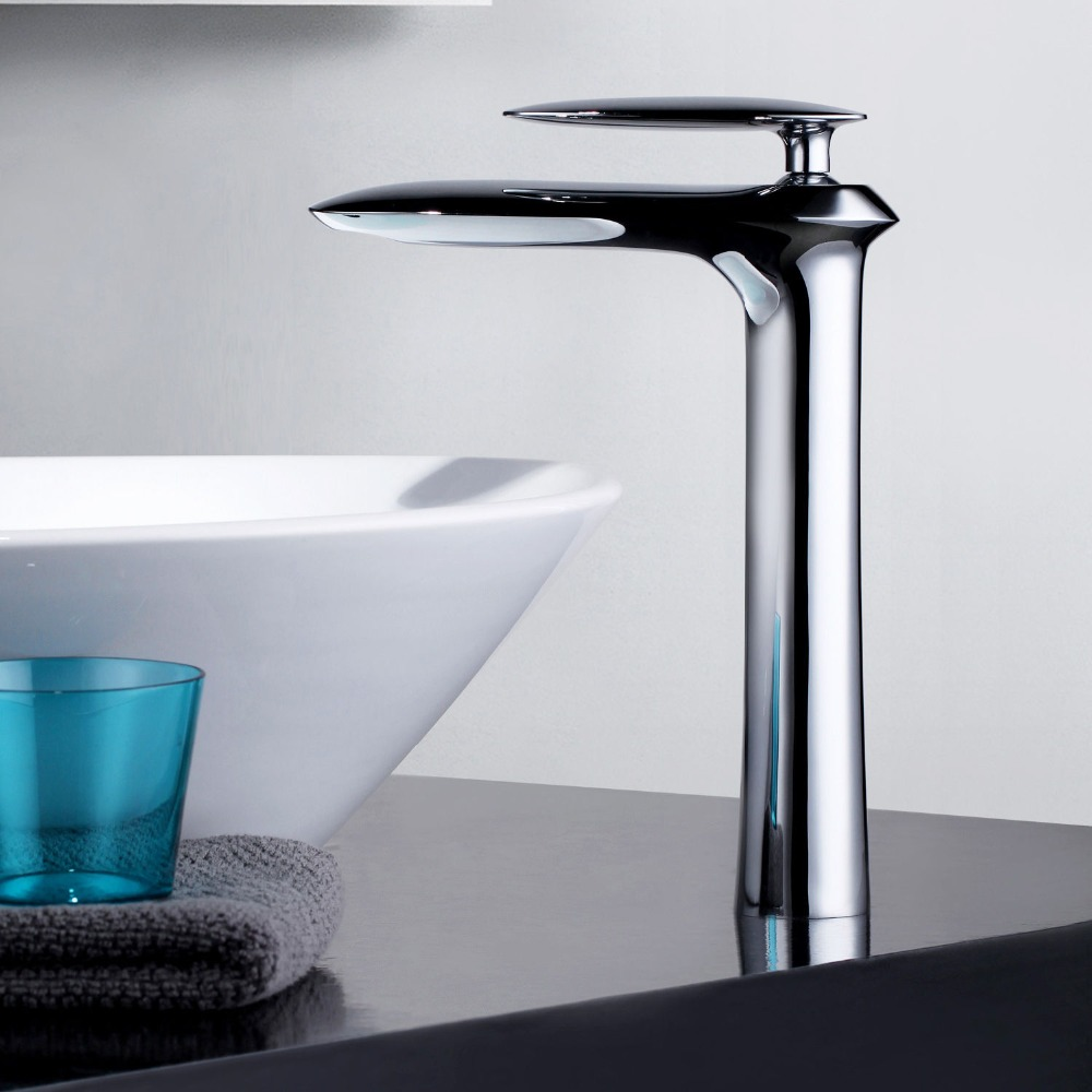 Bathroom sink faucet one hole double handle basin mixer tap ebay - Free Ship Modern Single Hole Bathroom Vessel Sink Faucet In Chrome Finish Basin Mixer Tap