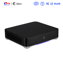Realan Aluminum Mini ITX Case E-W44 Slim HTPC Desktop Computer Without power supply(China)